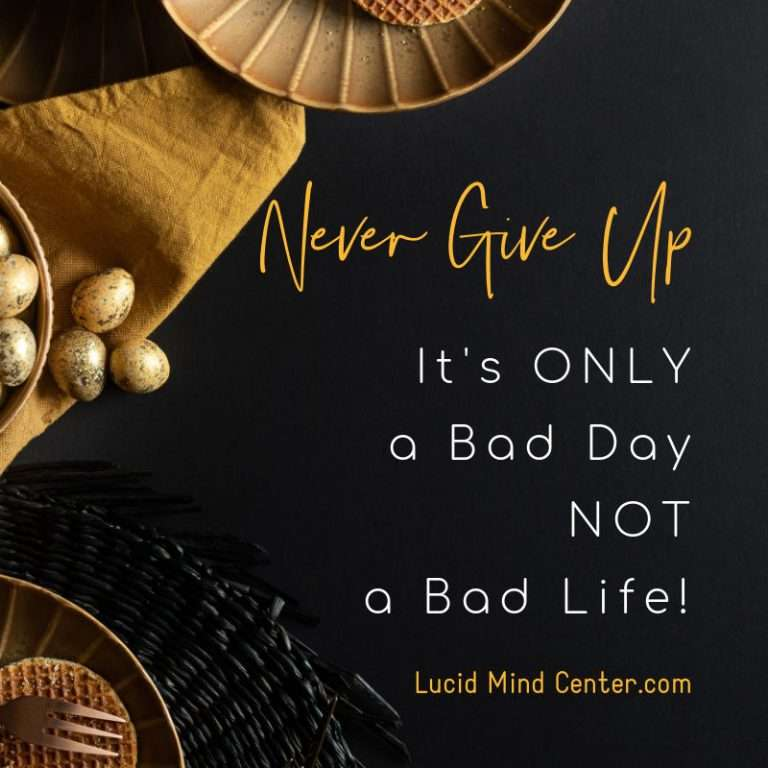 Never Give Up - Day 1 of Change Your Life COURSE