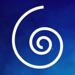 Spiral Logo Blue Space