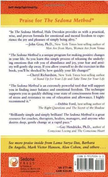 The Sedona Method by Hale Dwoskin back